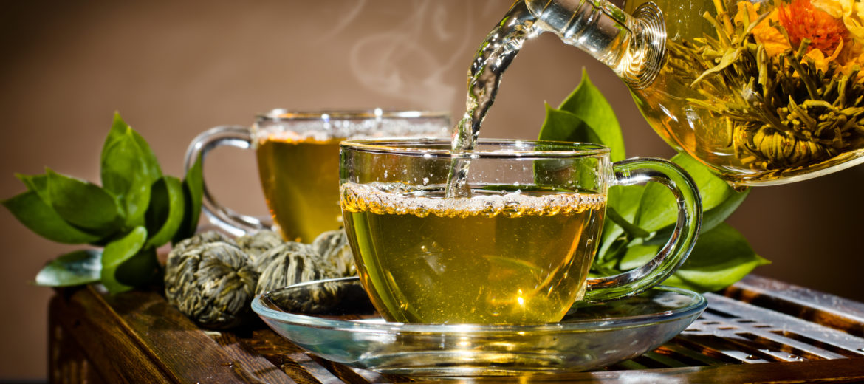 green tea service